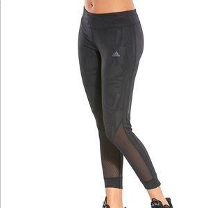 Adidas running leggings with mesh calves/shins